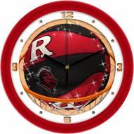Rutgers Scarlet Knights Slam Dunk Wall Clock