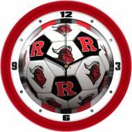 Rutgers Scarlet Knights Soccer Wall Clock