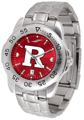 Rutgers Scarlet Knights Sport Steel AnoChrome Men's Watch