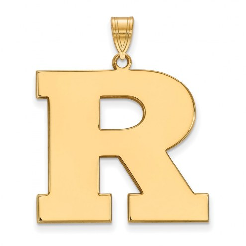 Rutgers Scarlet Knights Sterling Silver Gold Plated Extra Large Pendant