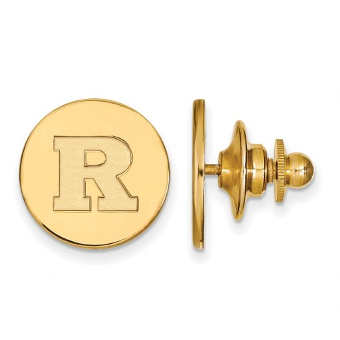 Rutgers Scarlet Knights Sterling Silver Gold Plated Lapel Pin