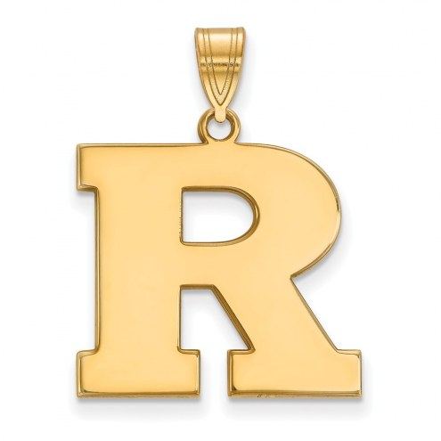 Rutgers Scarlet Knights Sterling Silver Gold Plated Large Pendant