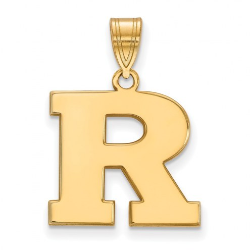 Rutgers Scarlet Knights Sterling Silver Gold Plated Medium Pendant