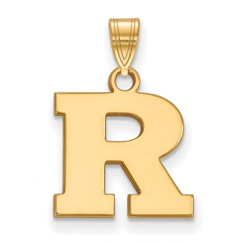 Rutgers Scarlet Knights Sterling Silver Gold Plated Small Pendant