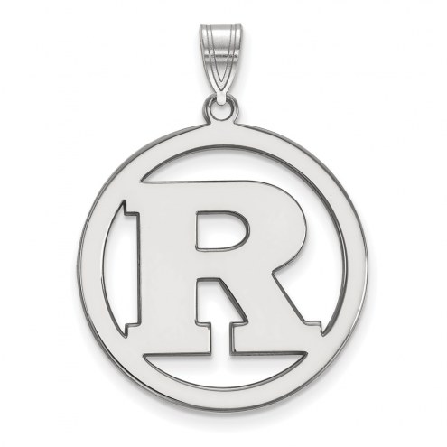 Rutgers Scarlet Knights Sterling Silver Large Circle Pendant