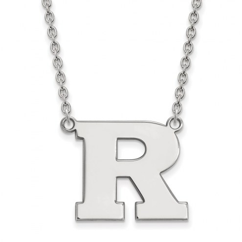 Rutgers Scarlet Knights Sterling Silver Large Pendant Necklace