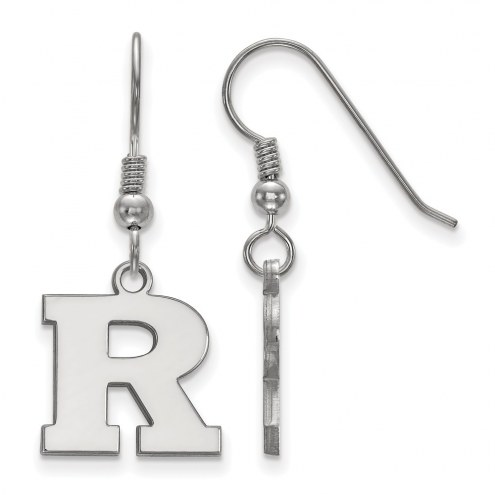 Rutgers Scarlet Knights Sterling Silver Small Dangle Earrings