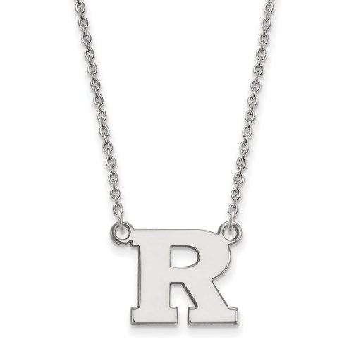 Rutgers Scarlet Knights Sterling Silver Small Pendant Necklace