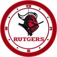 Rutgers Scarlet Knights Traditional Wall Clock