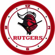 Rutgers Scarlet Knights Traditional Wall Clock