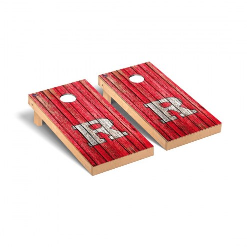 Rutgers Scarlet Knights Weathered Cornhole Game Set