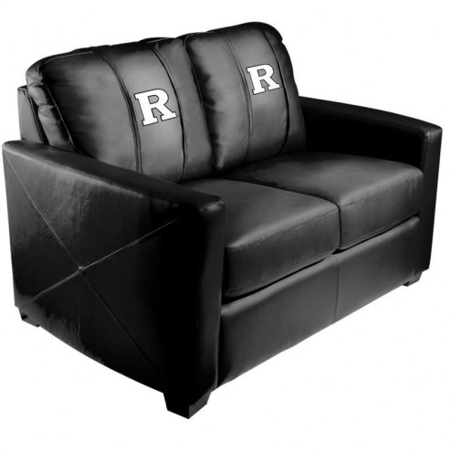 Rutgers Scarlet Knights XZipit Silver Loveseat with White Logo