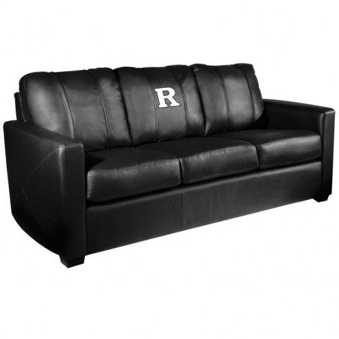 Rutgers Scarlet Knights XZipit Silver Sofa with White Logo