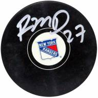 Ryan McDonagh Signed New York Rangers Puck (Signed In Silver)