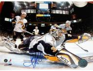 Ryan Miller Goal Cam Glove Save vs Devils 8 x 10 Photo
