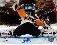 Ryan Miller Goal Cam Kick Save vs. Rangers Signed 8 x 10 Photo