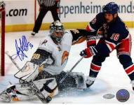 Ryan Miller Kick Save vs Sean Avery Signed 8 x 10 Photo