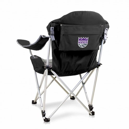 Sacramento Kings Black Reclining Camp Chair