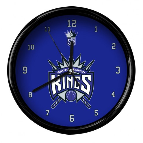 Sacramento Kings Black Rim Clock