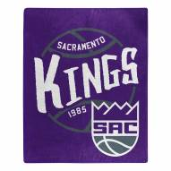 Sacramento Kings Blacktop Raschel Throw Blanket