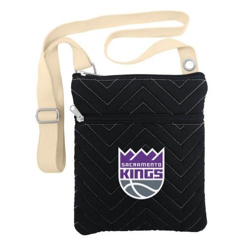 Sacramento Kings Chevron Stitch Crossbody Bag