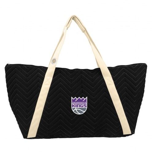 Sacramento Kings Chevron Stitch Weekender Bag