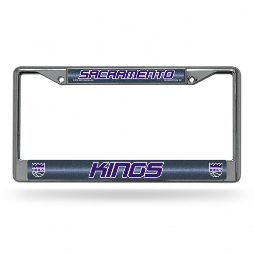 Sacramento Kings Chrome Glitter License Plate Frame