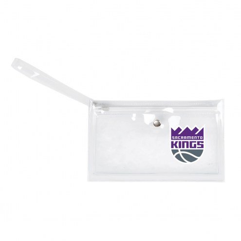 Sacramento Kings Clear Ticket Wristlet