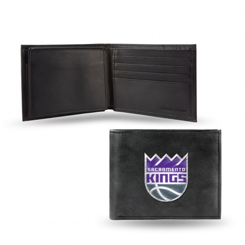 Sacramento Kings Embroidered Leather Billfold Wallet