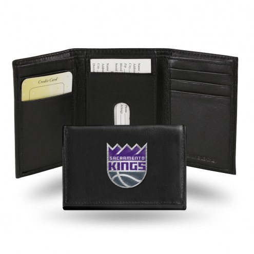 Sacramento Kings Embroidered Leather Tri-Fold Wallet