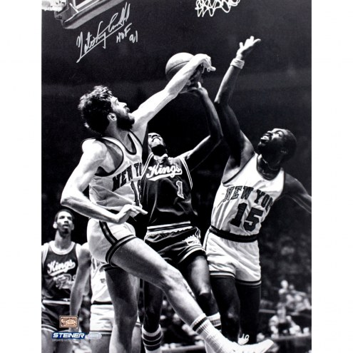 "Kansas City Kings Nate Archibald B/W w/ ""HOF 91"" Signed 16"" x 20"" Photo"