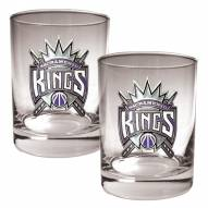 Sacramento Kings NBA 2-Piece 14 Oz. Rocks Glass Set