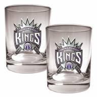 Sacramento Kings NBA 2-Piece 14 Oz. Rocks Glass Set