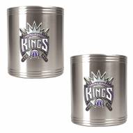 Sacramento Kings NBA Stainless Steel Can Holder 2-Piece Set