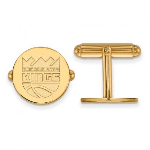 Sacramento Kings Sterling Silver Gold Plated Cuff Links
