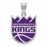 Sacramento Kings Sterling Silver Large Enameled Pendant