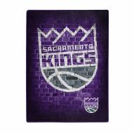Sacramento Kings Street Raschel Throw Blanket