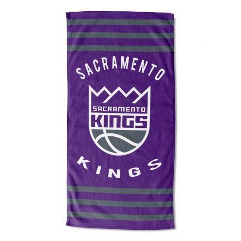 Sacramento Kings Stripes Beach Towel
