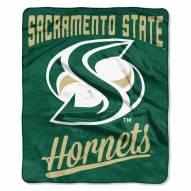 Sacramento State Hornets Alumni Raschel Throw Blanket