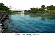 Sacramento State Hornets Campus Images Lithograph