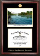 Sacramento State Hornets Gold Embossed Diploma Frame with Lithograph