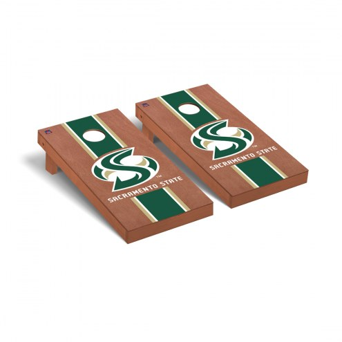 Sacramento State Hornets Rosewood Stained Cornhole Game Set