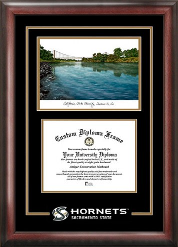 Sacramento State Hornets Spirit Diploma Frame with Campus Image