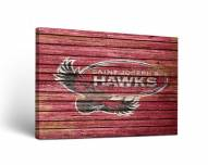 Saint Joseph's Hawks Weathered Canvas Wall Art