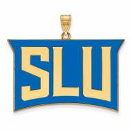 Saint Louis Billikens Sterling Silver Gold Plated Extra Large Enameled Pendant