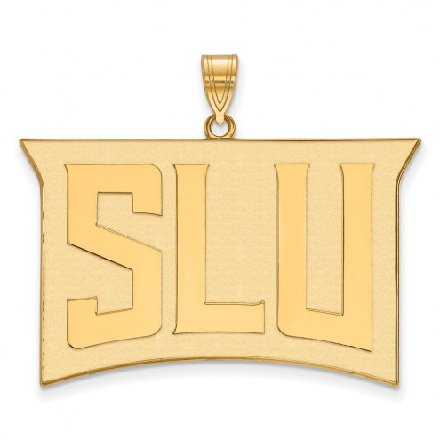 Saint Louis Billikens Sterling Silver Gold Plated Extra Large Pendant