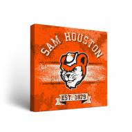 Sam Houston State Bearkats Banner Canvas Wall Art