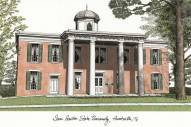 Sam Houston State Bearkats Campus Images Lithograph