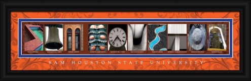 Sam Houston State Bearkats Campus Letter Art