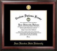 Sam Houston State Bearkats Gold Embossed Diploma Frame